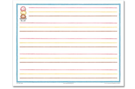 printable ice cream writing paper the superkids reading program peek into the teacher s