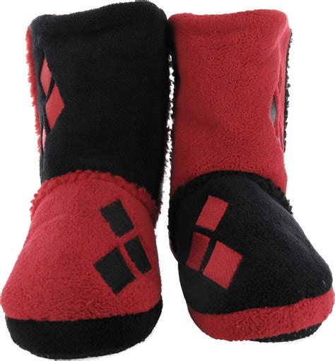 harley slippers harley quinn costume womens boot slippers
