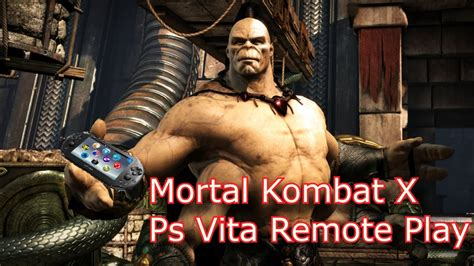 Psvita Mortal Kombat By Waroengame mortal kombat x remote play ps4 60fps on ps vita