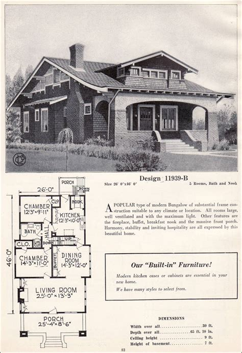 bungalow house plans 1920s 1920 craftsman bungalow style house plans memes