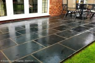 Slate For Patios Slabs by Black And Grey Slate Paving Patio Garden Tiles Not Slab