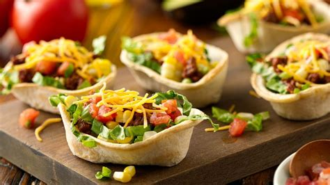 mini taco salad boats recipe tablespoon - Taco Boats In Oven