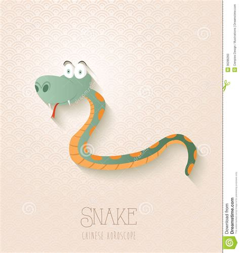 new year animal snake zodiac set year of the snake stock photo image