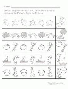 fun pattern sequence pre k worksheet 1 ziggity zoom