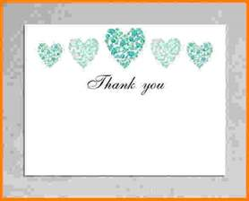 Wedding Thank You Template by 8 Thank You Card Template Word Card Authorization 2017