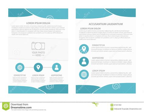 vector flyer template design with front page and back page