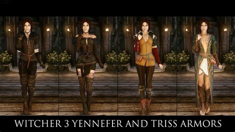 witcher 3 yennefer and triss armors at skyrim nexus mods tes v skyrim mods witcher 3 yennefer and triss armors