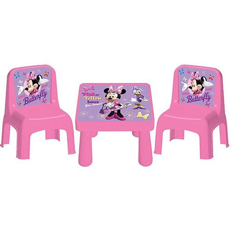 Minnie Table And Chair Set by Disney Minnie Bowtique Cafe Table And Chairs Set Walmart