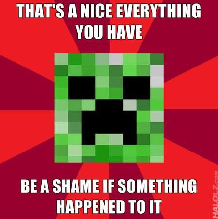Minecraft Creeper Meme - creeper meme minecraft picture