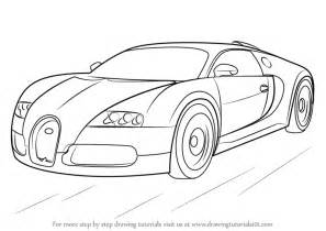 How To Draw A Bugatti Step By Step Learn How To Draw Bugatti Veyron Sports Cars Step By