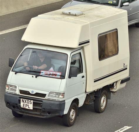 piaggio porte piaggio porter cervan seen on the m4 in newport