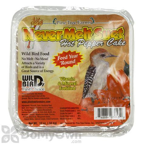 pine tree farms never melt suet hot pepper cake bird food