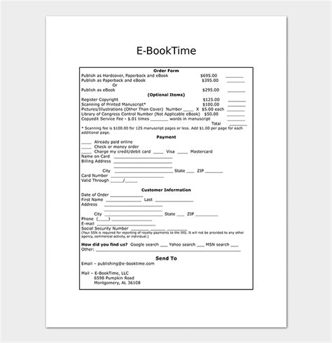 book order form template word sales order template 22 formats exles word excel
