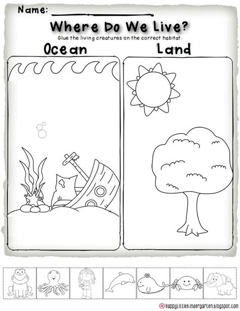 printable worksheets about animal habitats ocean habitat freebie perfect for science centers and