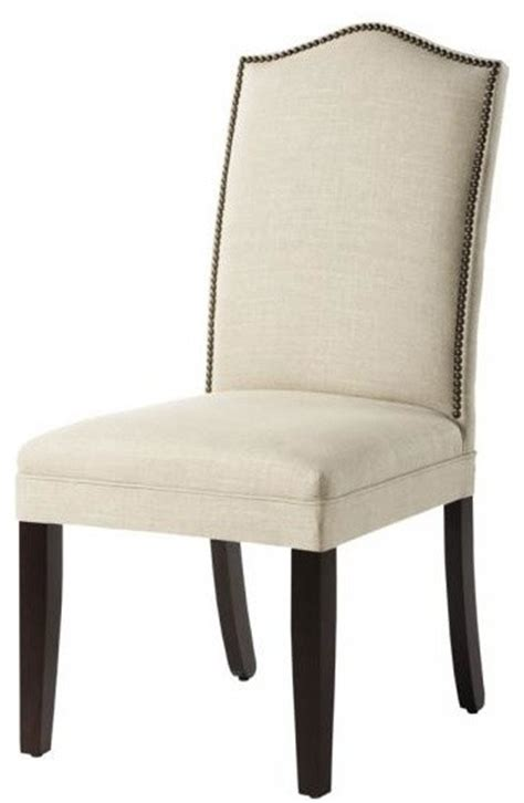 linen dining room chairs custom camelback parson s chair with nailhead trim dueck