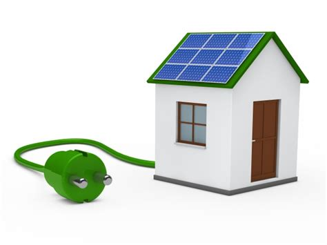 house with a solar panel and a green photo free
