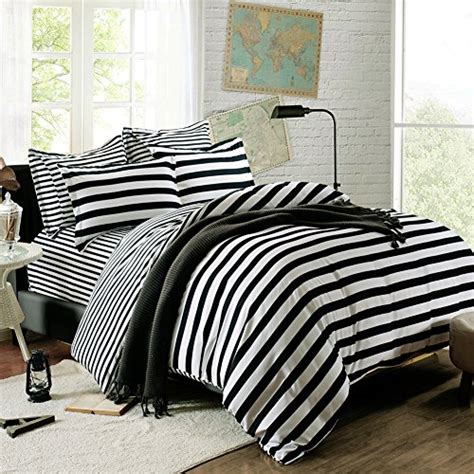 striped bedding black and white stripe from sininlinen black white bedding sets