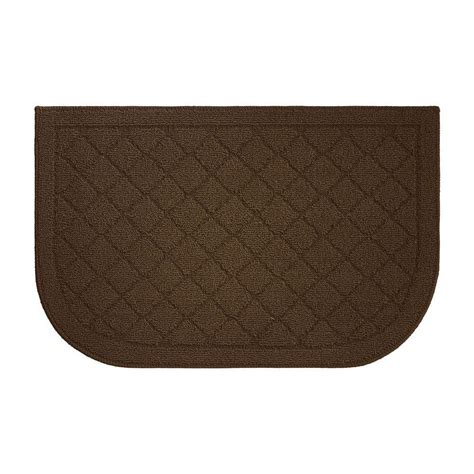 kitchen wedge rugs creative home ideas chicken coop textured loop chocolate 18 in x 30 in slice wedge shaped
