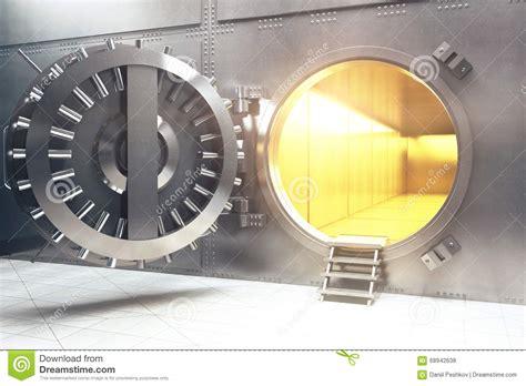 open bank open bank vault stock illustration image 68942638