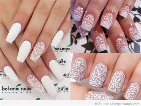 imagenes de uñas pintadas de blanco colores de unas acrilicas