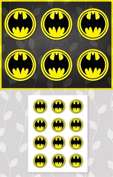 Topper Batman I batman sticker batman cupcake topper by