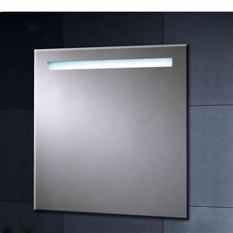 illuminated heated mirror with shaver socket 600mm