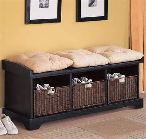 storage bench with cushion and baskets benches storage bench with baskets lowest price sofa