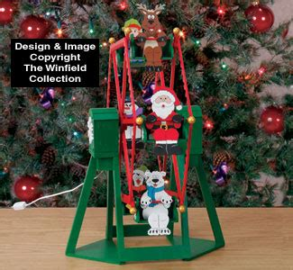 all christmas tabletop ferris wheel and riders plan