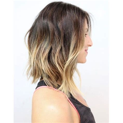 a line ombre soft a line bob under cut soft waves ombre ramirez