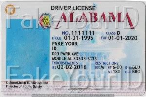 alabama id card template how to make drivers license fakeyourid sle