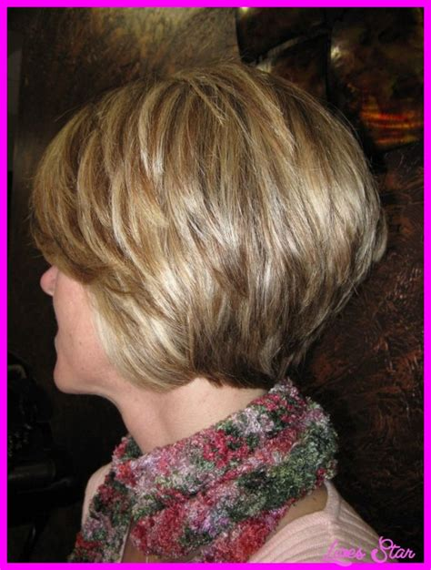 back view of short hairstyles stacked livesstar com