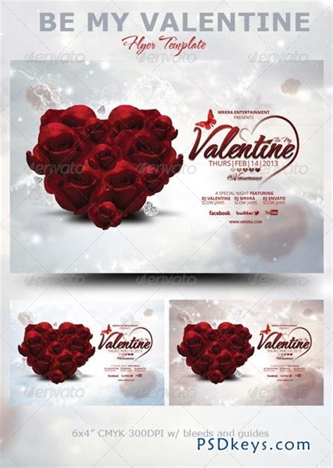 free valentine templates for photoshop be my valentine flyer template 3737558 187 free download