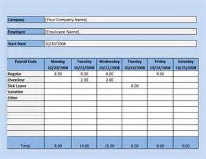 Excel Payroll Template by Payroll Timesheet Template 10 Free Documents