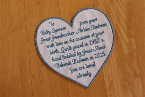 Custom Embroidered Quilt Labels by Quilt Label Embroidered Quilt Label Monogrammed Quilt