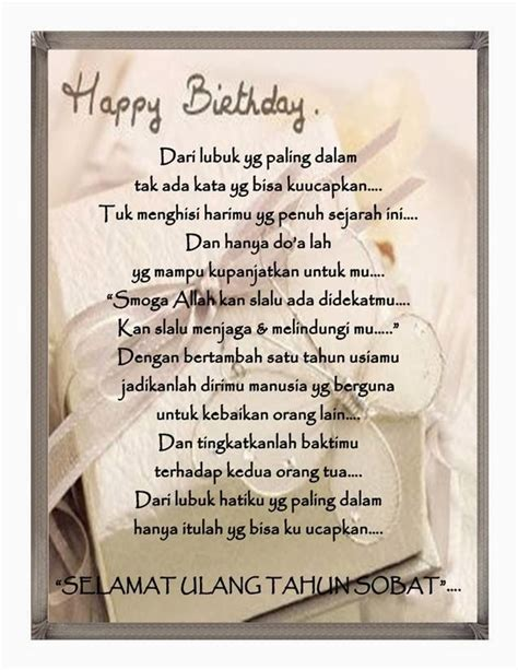 selamat ulang tahun untuk sahabat puisina