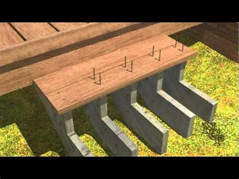 composite deck building stair installtion youtube