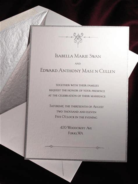 twilight saga wedding invitation twilight breaking wedding invitation designer revealed exclusive reporter