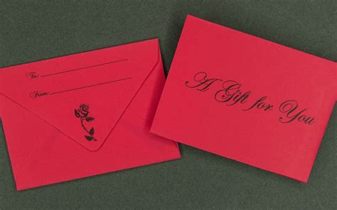 A Gift For You Gift Card - information packaging red gift card envelope a gift for you