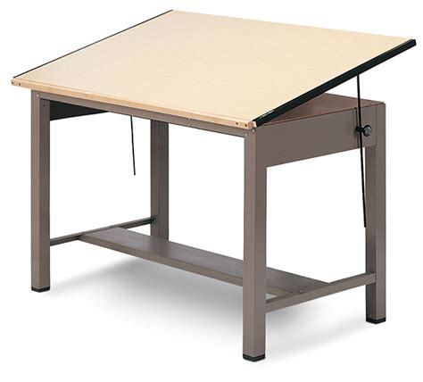 Steel Drafting Table Mayline Ranger Steel Four Post Drawing Tables Blick Materials