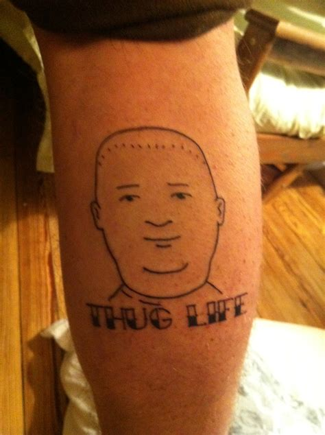 bobby hill tattoo fyeahtattoos bobby hill thug done by cameron