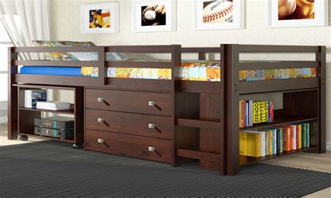 bed frame with desk full size bunk beds with desk space saving loft beds