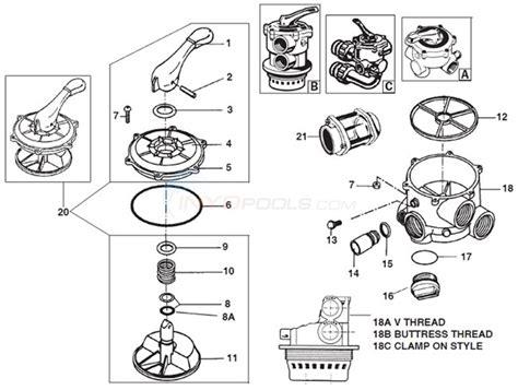 hayward 2 parts diagram hayward multiport vari flow 1 1 2 quot sp 710x sp 712 sp 711