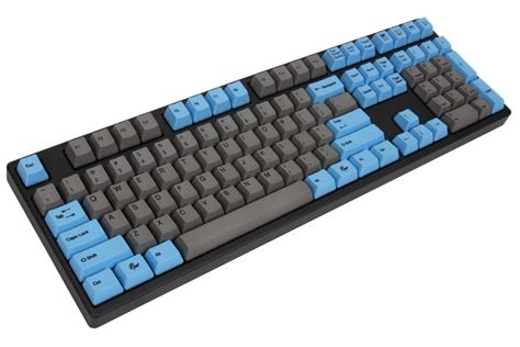 Keyboard Mechanical ducky premier grey blue keycaps dye sub pbt mechanical keyboard cherry mx black