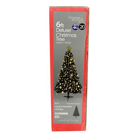 deluxe black christmas tree 6ft artificial tree xmas