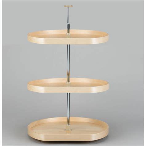 upper corner cabinet lazy susan lazy daisy by rev a shelf d shape banded wood 3 tray lazy