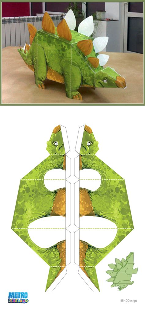 Papercraft Dinosaur - metrolekeland papercraft dino by berov on deviantart
