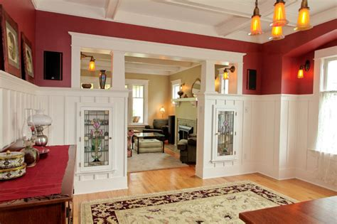 room colonnade new colonnade with china cabinets craftsman dining room seattle by tim andersen architect
