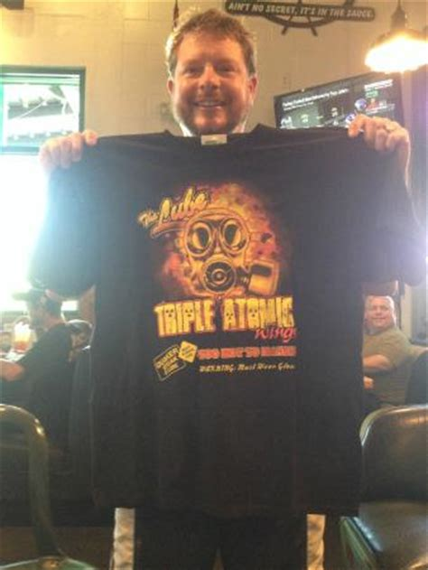 quaker steak wing challenge the shirt i won for beating the wing challenge