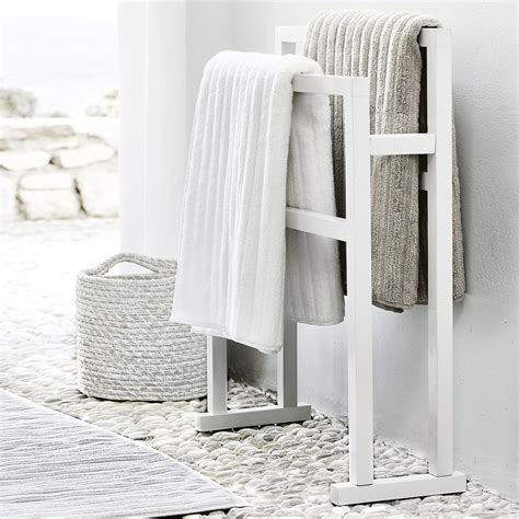white towel rails for bathrooms bathroom towel rail white goodglance