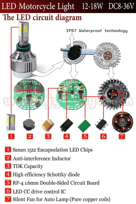 cree led headlight wiring diagram led motorcycle
